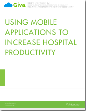 Using Mobile Applications to Increase Hospital Productivity